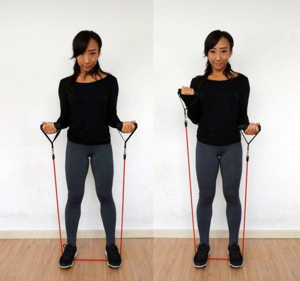 腕を鍛えるチューブトレーニング5選
