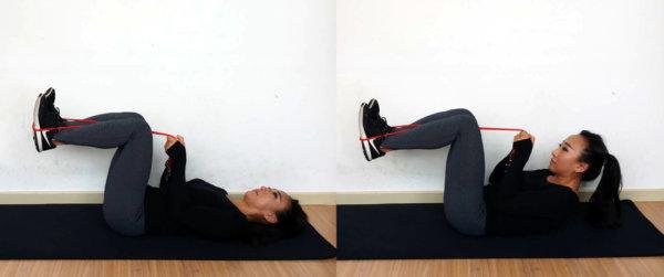 腹筋を鍛えるチューブトレーニング2選 チューブクランチ