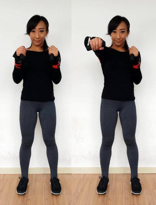 大胸筋を鍛えるチューブトレーニング9選 フロントプッシュ