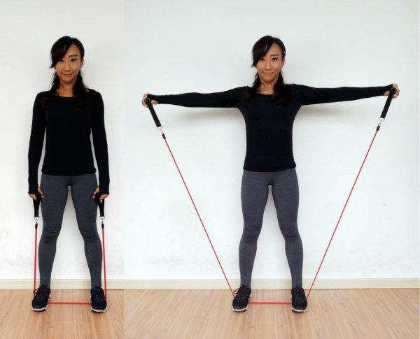 肩こりを解消するトレーニングチューブ5選 ラテラルレイズ