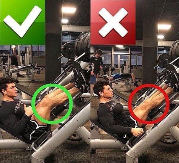 レッグプレスを効果的に効かせるポイント①「膝を伸ばし切らない」