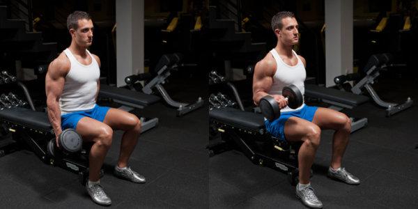 ダンベルカールを効果的に行うコツ①「肘の位置を固定する」