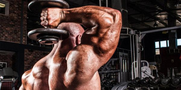 トライセプスエクステンションの効果的なコツ①「上腕三頭筋に集中する」
