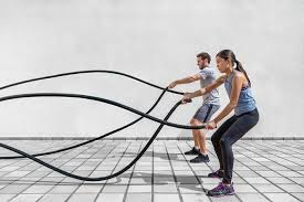 バトルロープトレーニングの筋トレ効果②「脂肪燃焼促進」