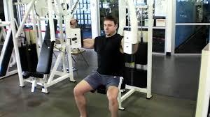バタフライマシンの効果的なコツ④「肘の角度を固定したまま、肩関節の動作でのみで取り組む」