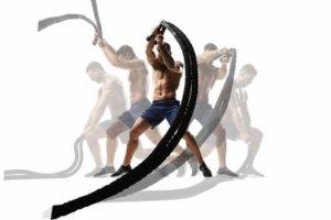 バトルロープトレーニングのバリエーション種目④「バトルロープ・サークル」