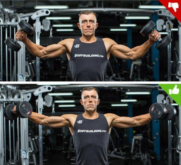 ラテラルレイズの効果的なコツ①「肘を上げるイメージで動作する」