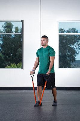 チューブを利用した腕トレの効果的なコツ①「ネガティブ動作をゆっくりと行う」