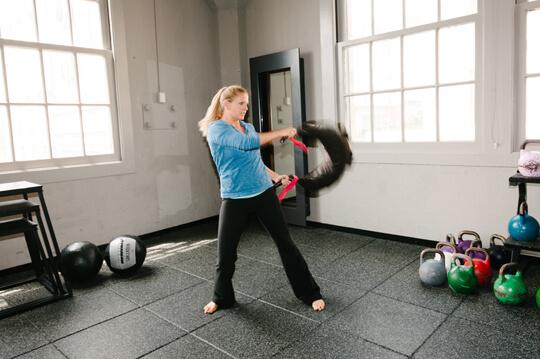 ブルガリアンサンドバックの効果①「体幹を鍛えるのに最適」