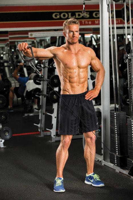 ケーブルマシンを利用したトレーニングのメリット②「関節・腱・筋肉への負担が少ない」