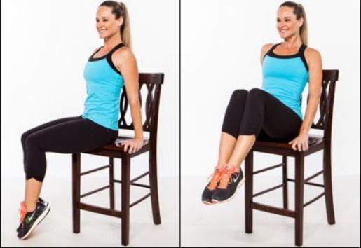 椅子を使って取り組める効果的な種目④「チェア・クランチ」