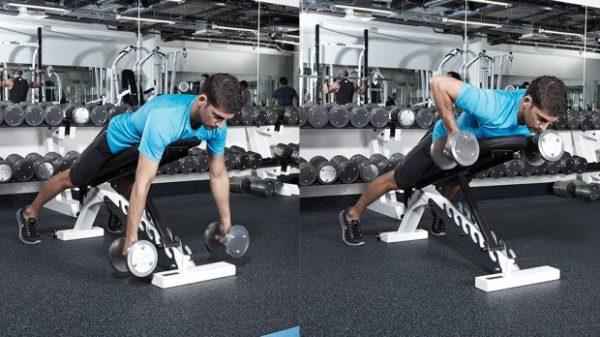 改善方法「上半身の前傾角度を45度~60度の範囲内で維持し、肩甲骨内転で引く」