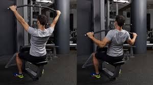 僧帽筋トレの効果的なコツ⑤「ラットプルダウン系種目では、肩を上げないよう注意」