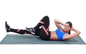 自重の全身運動トレーニング④「バイシクル・クランチ」